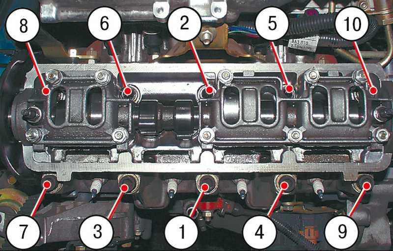 Снятие и установка головки блока цилиндров (1.4