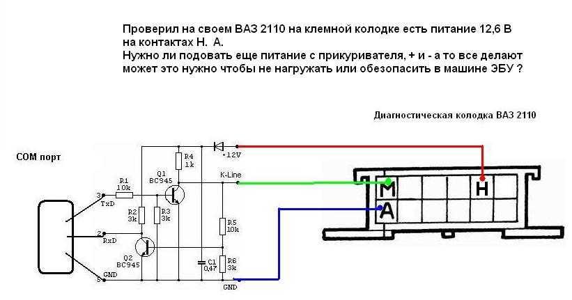 Автомобильный адаптер k l линии