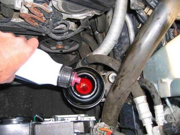 Замена жидкости в гидроусилителе руля своими руками | tuningkod