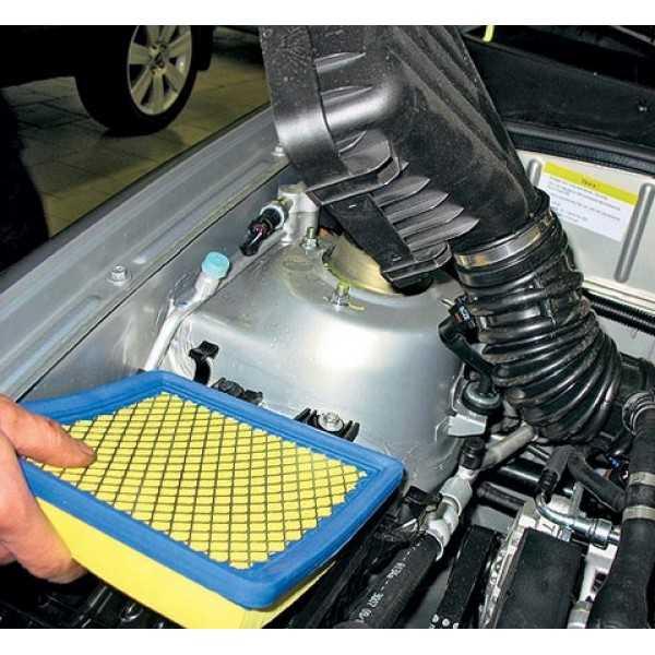 Воздушный фильтр двигателя, принцип работы, разновидности, назначение