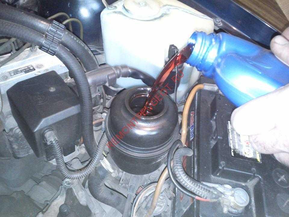 Правильная замена жидкости гур в условиях гаража