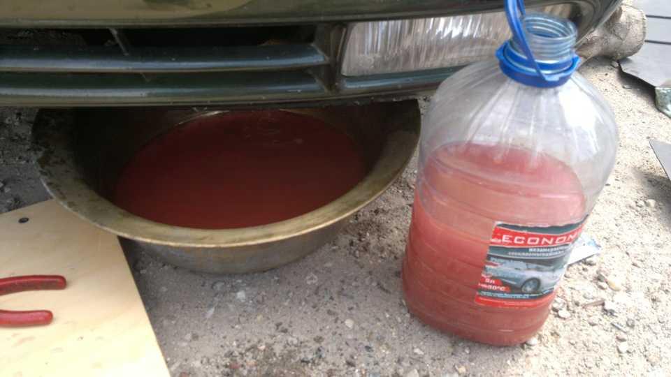 Замена антифриза: как заменить охлаждающую жидкость в автомобиле
