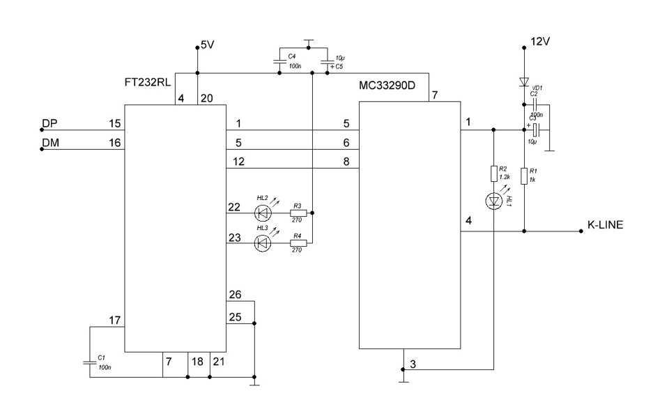 Схема k-line адаптера   texinf.ru