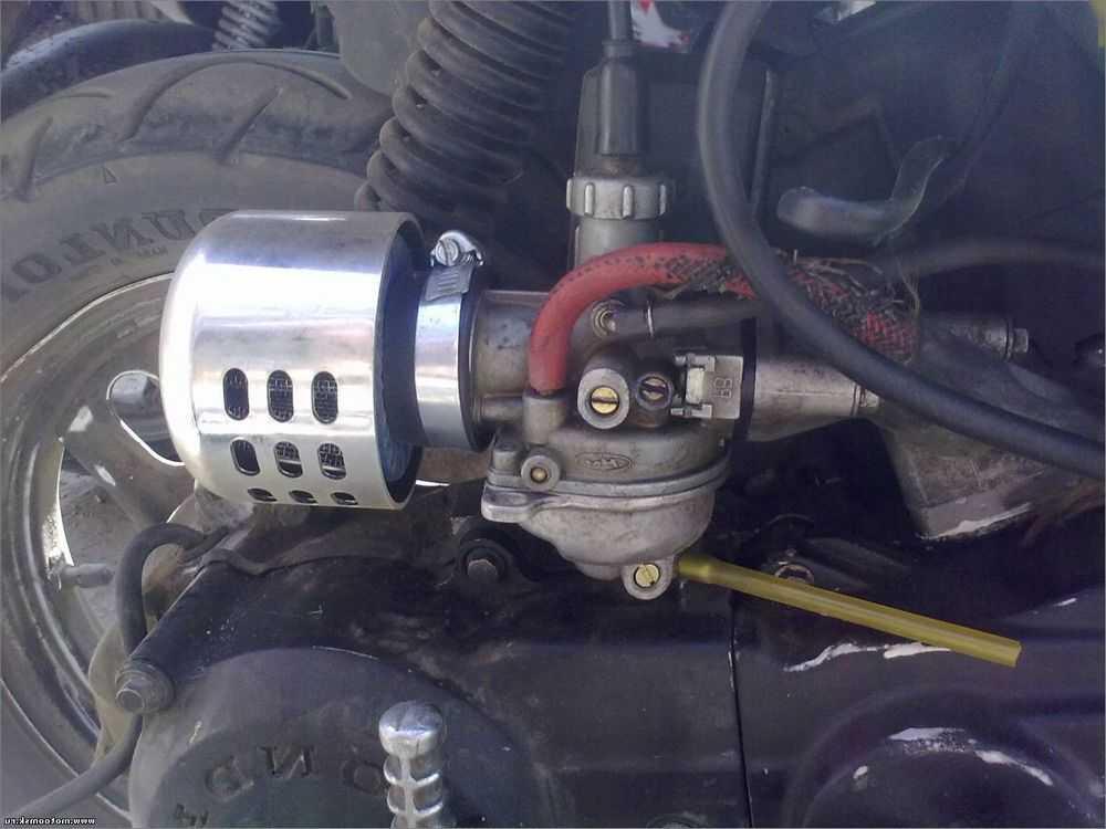 Система холодного пуска двигателя скутера