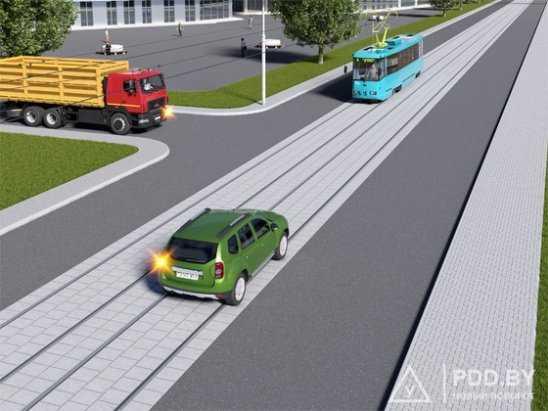 Проезд перекрестков с трамвайными путями | avtonauka.ru