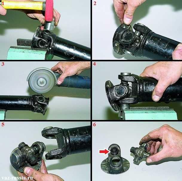 Замена крестовины карданного вала на ваз-2104-2107