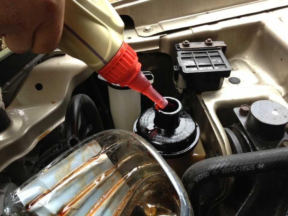 Как заменить жидкость гидроусилителя руля?