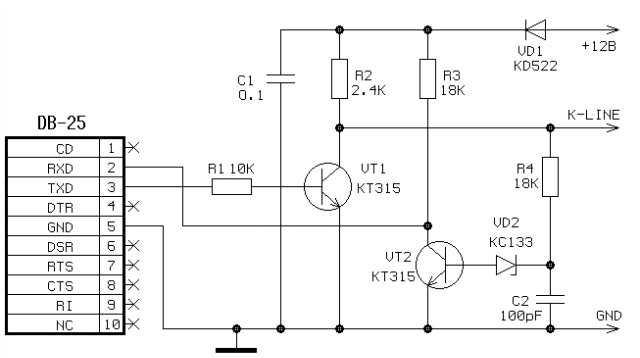 Диагностический адаптер k-line своими руками • chiptuner.ru