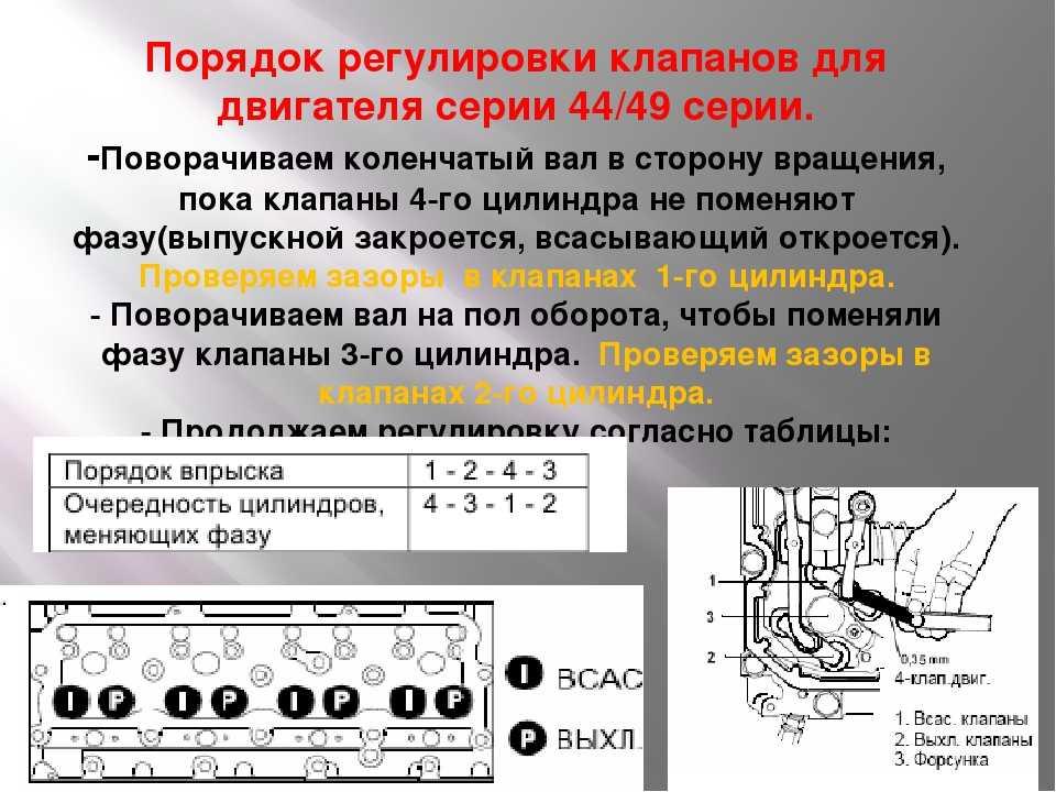 Регулировка клапанов на разных моделях двигателей ⋆ автомастерская