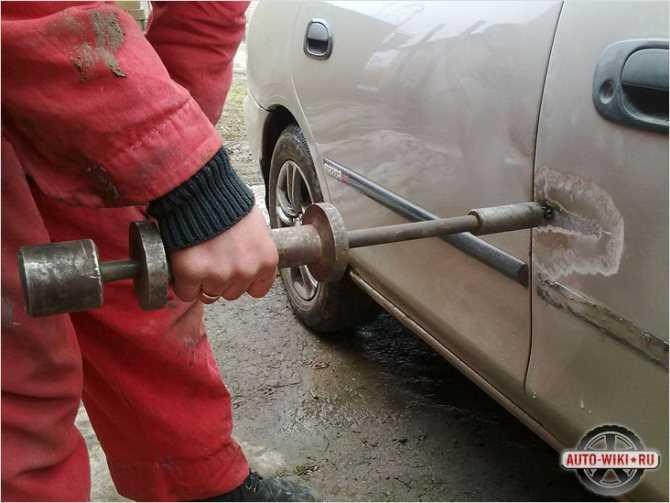 Рихтовка кузова автомобиля своими руками: технология удаления вмятин