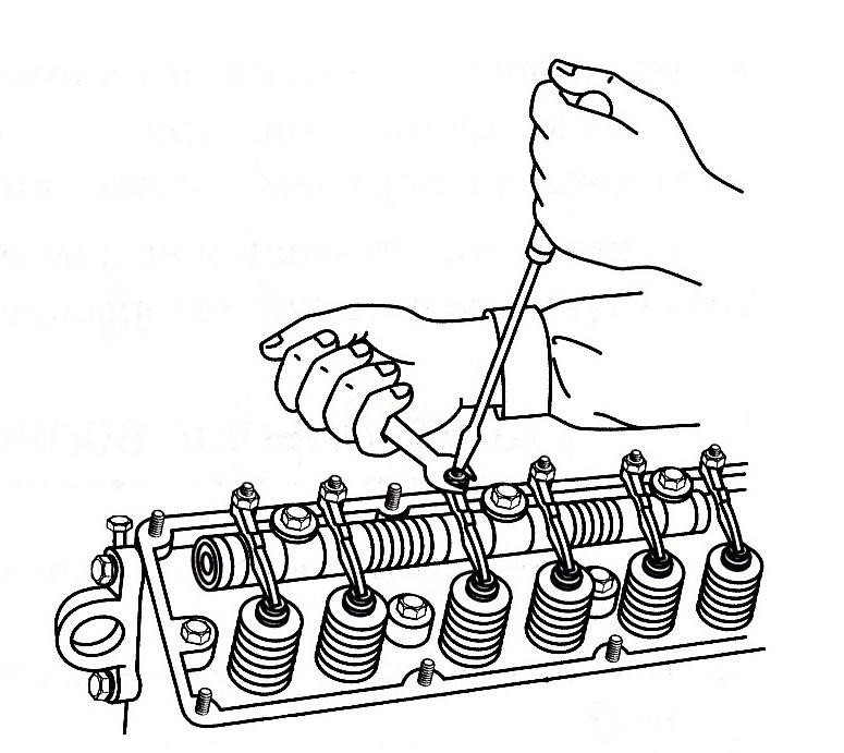 Регулировка клапанов двигателя