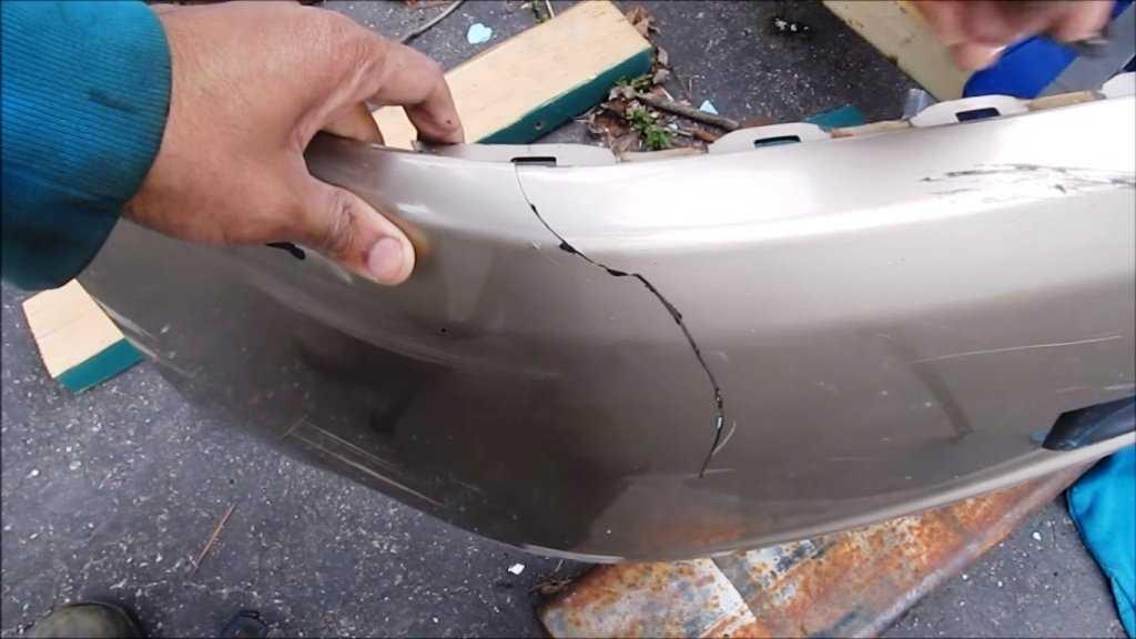 Ремонт бампера из пластика своими руками: видео