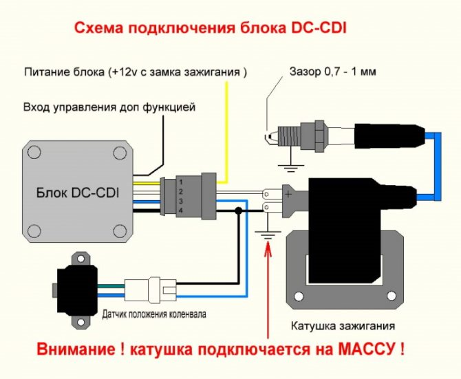 Коммутатор зажигания, схема, устройство