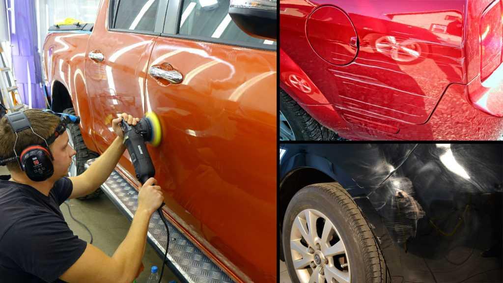 Удаление царапин на кузове автомобиля без покраски своими руками