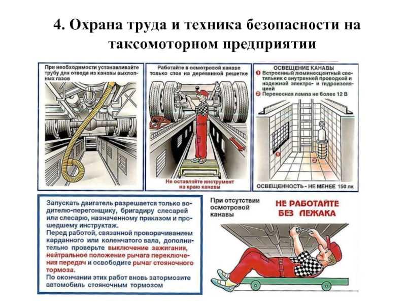 Меры безопасности при технических обслуживаниях и ремонте автомобилей