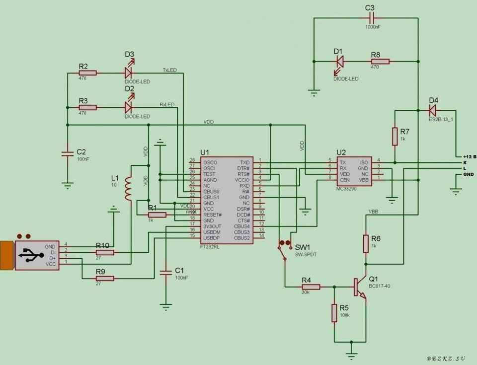 Диагностический адаптер k-l-line своими руками • chiptuner.ru