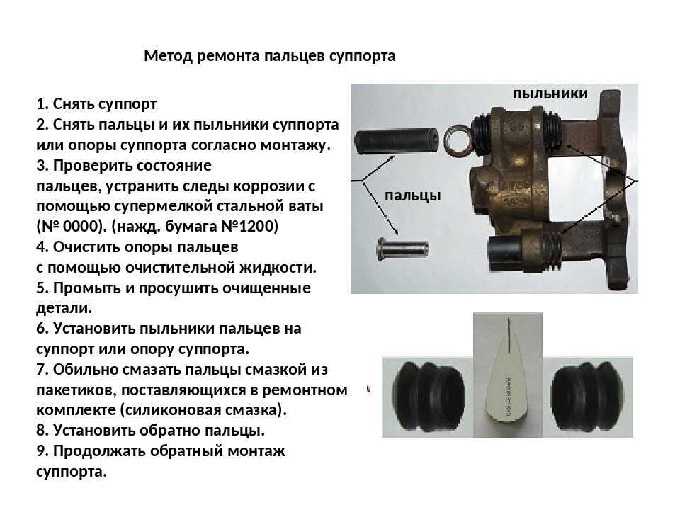 Ремонтируем тормозной суппорт