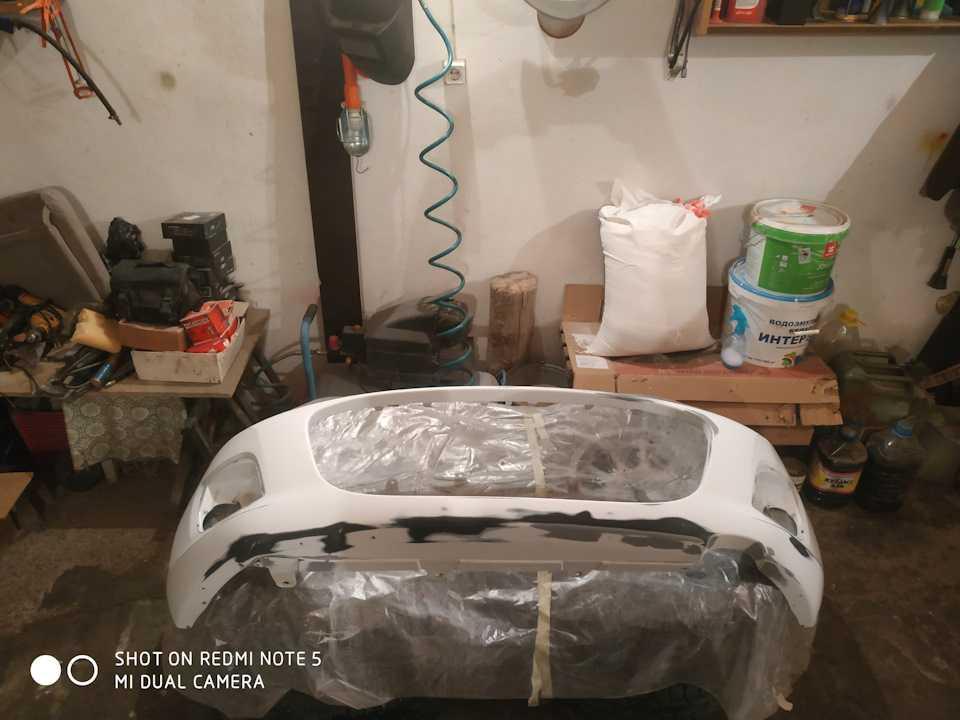 Ремонт бампера легкового автомобиля своими руками
