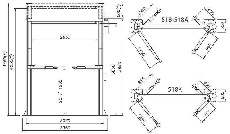 Рекомендации по подготовке основания для установки двухстоечного подъемника тз