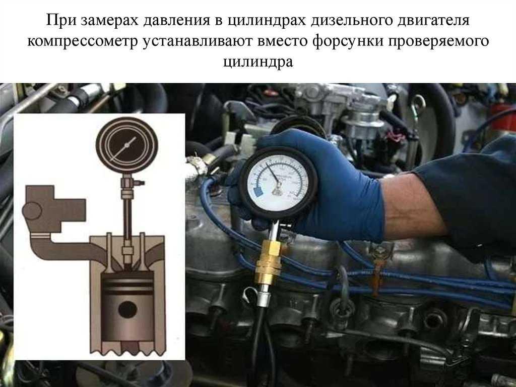 Как проверяют компрессию в дизелях