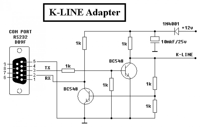Пособие по самостоятельному изготовлению k-line адаптер