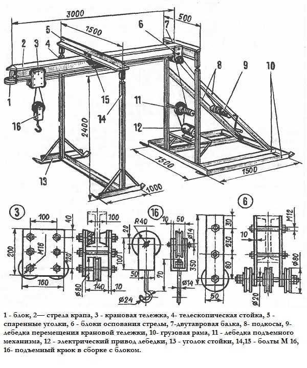 Как построить подъемник автомобильный для гаража своими руками: чертежи