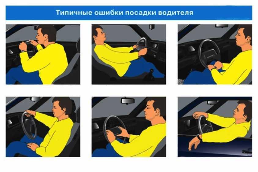Как правильно сидеть за рулём машины: положение рук, регулировка зеркал