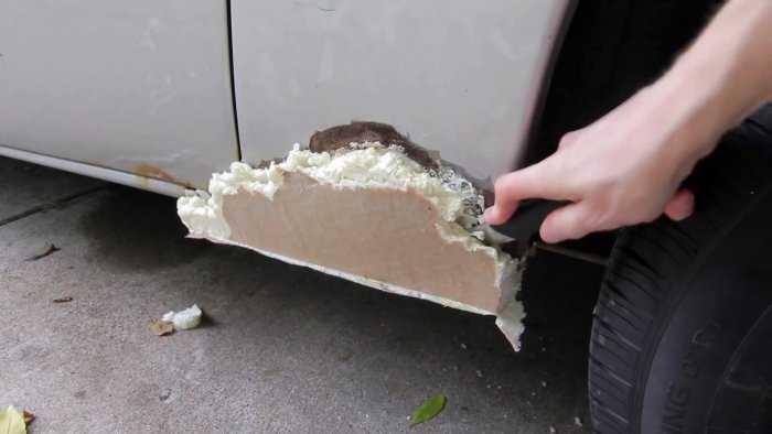 Как заделать сквозную коррозию автомобиля? - ремонт авто своими руками - тонкости и подводные камни