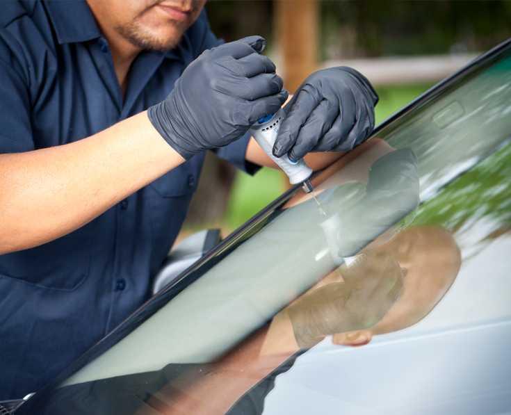 Ремонт сколов на лобовом стекле своими руками