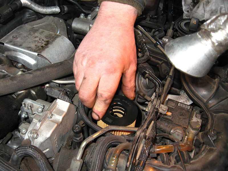 Замена двигательного масла и масляного фильтра ауди а3