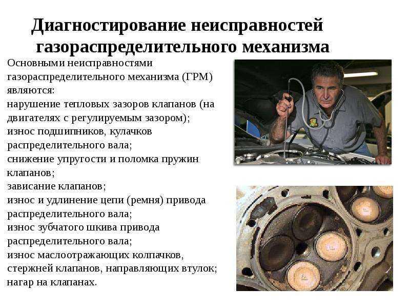 Неисправности газораспределительного механизма (грм) двигателя автомобиля