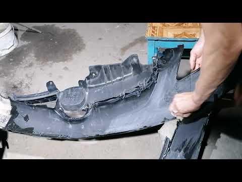 Ремонт бампера из пластика своими руками