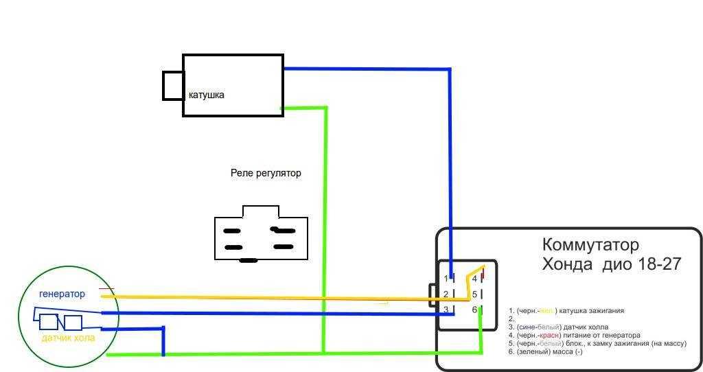 Электрическая схема скутера