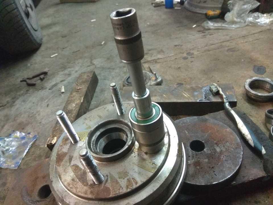 Замена подшипника  и шпилек передней ступицы (для применения на моделе daewoo matiz m150)