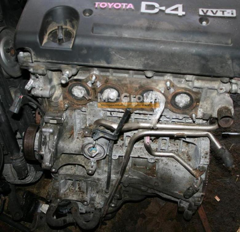 Число оборотов двигателя у toyota avensis