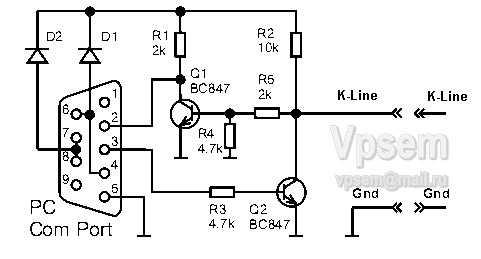 Как подключить и отключить k line адаптер?
