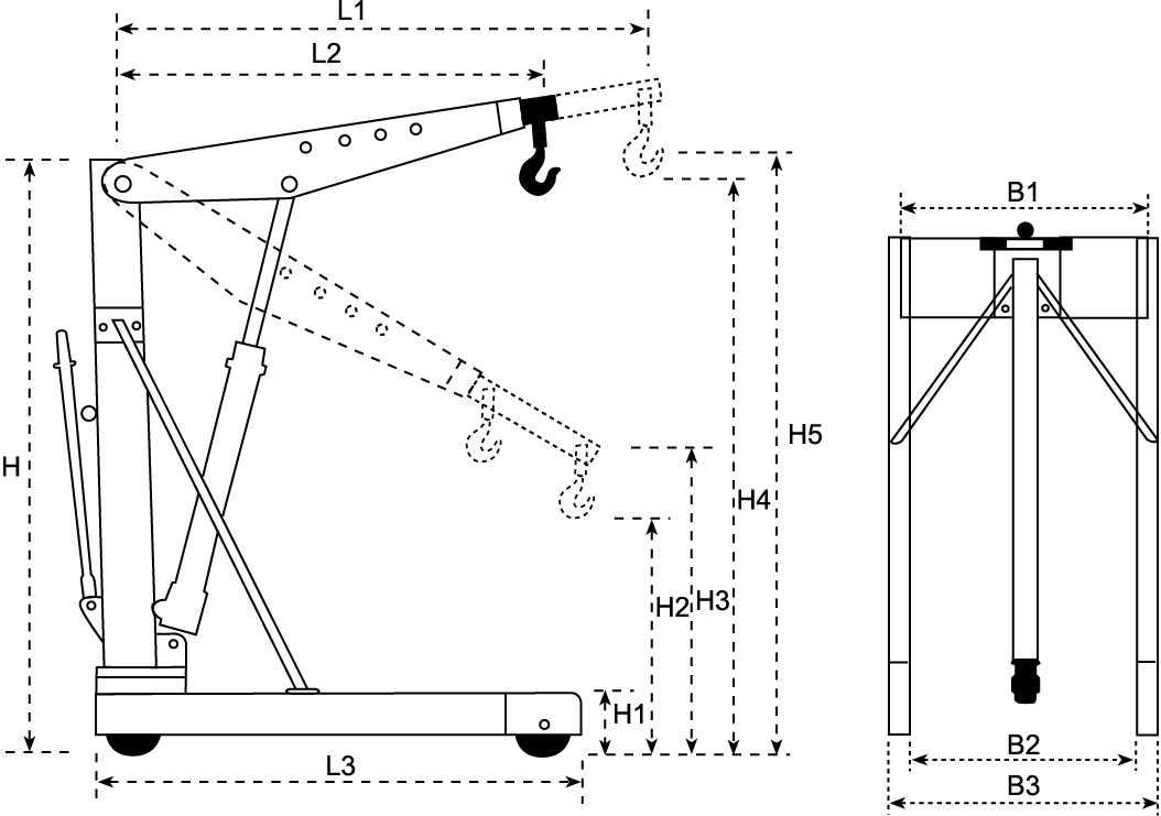 Принцип работы гидравлических подъемников ножничного типа