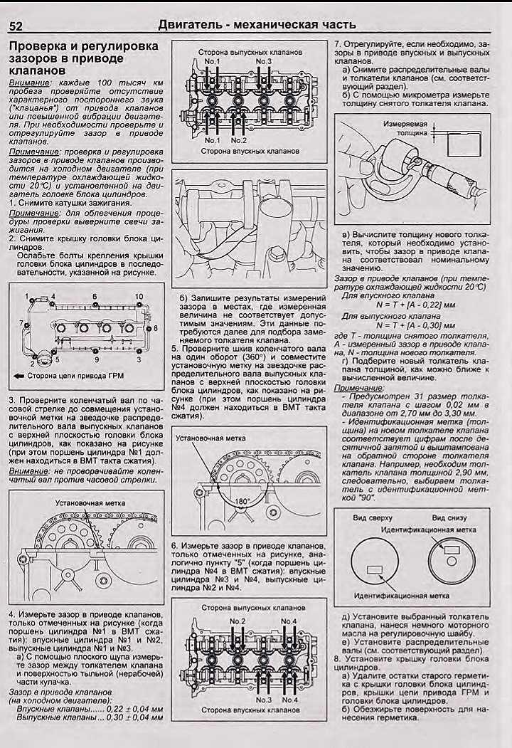 Регулировка клапанов двигателя современного автомобиля | auto-gl.ru