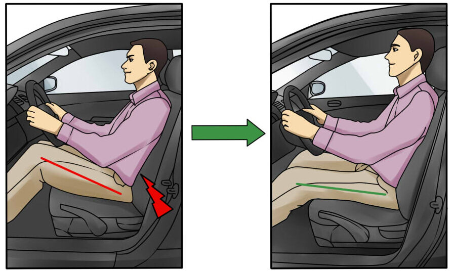 Правильная посадка за рулем - инструкция