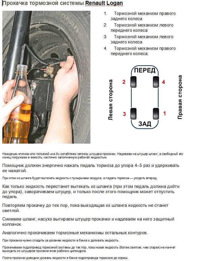 Как прокачать тормоза с абс: последовательность прокачки после замены колодок