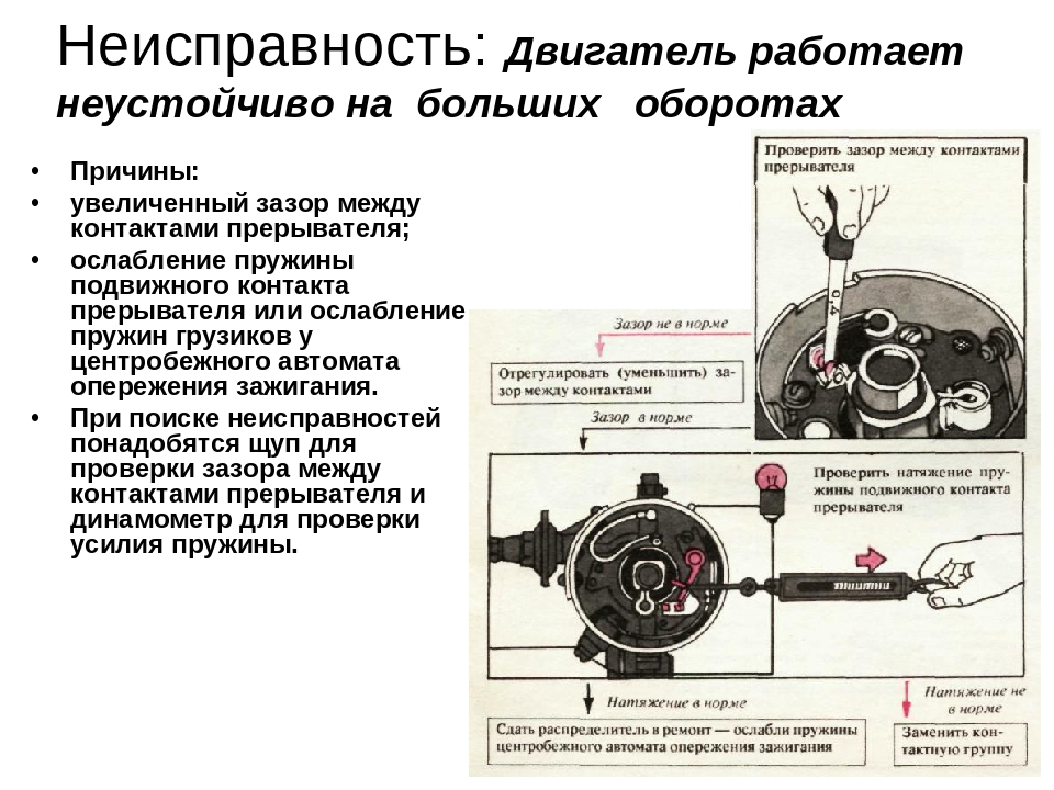 Принцип работы и неисправности в системе зажигания зил 130